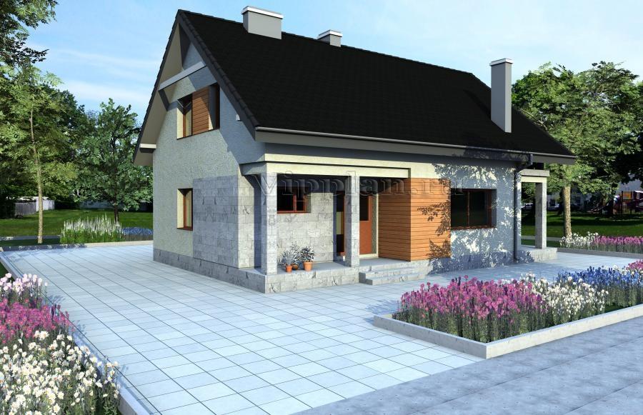 Индивидуальный проект одноэтажного дома с мансардой Vg996 в Воронеже